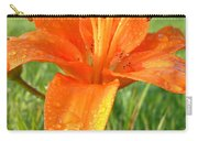Orange Lily Dew Drop Carry-all Pouch