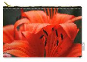 Orange Lily Digital Painting Carry-all Pouch