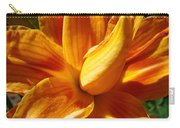 Orange Lily Flower Art Print Summer Lilies Baslee Carry-all Pouch
