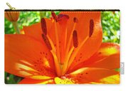 Orange Lily Flower Art Print Summer Lily Garden Baslee Troutman Carry-all Pouch
