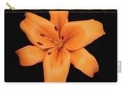 Orange Lily On Black Carry-all Pouch
