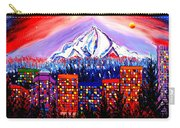 Orange Moon Over Mount Hood #1 Carry-all Pouch