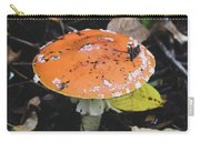 Orange Mushroom Carry-all Pouch