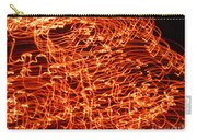 Orange Neon Flames Carry-all Pouch