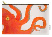 Orange Octopus Carry-all Pouch