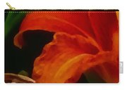 Orange Opening Carry-all Pouch