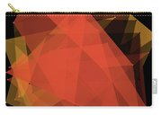Orange Polygon Pattern Carry-all Pouch
