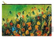 Orange Poppies 459080 Carry-all Pouch
