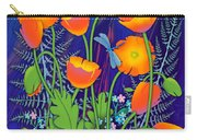 Orange Poppies And Forget Me Nots Carry-all Pouch