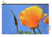 Orange Poppy Blue Sky Carry-all Pouch