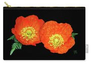 Orange Poppy Collage Cutout Carry-all Pouch