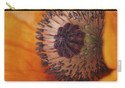 Orange Poppy With Texture Carry-all Pouch