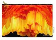 Orange Ranunculus Polar Coordinate Carry-all Pouch