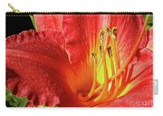 Orange-red Day Lily Carry-all Pouch