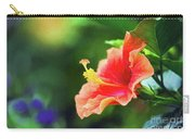 Orange Red Hibiscus Carry-all Pouch