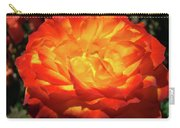 Orange Red Rose Flower Art Prints Giclee Baslee Troutman Carry-all Pouch