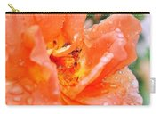 Orange Rose Raindrops Carry-all Pouch