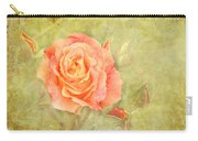 Orange Rose With Old Paint Texture Background Carry-all Pouch