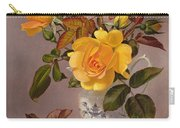Orange Roses In A Blue And White Jug Carry-all Pouch