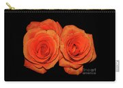 Orange Roses With Hot Wax Effects Carry-all Pouch