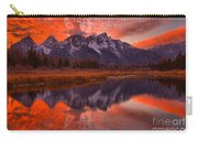 Orange Skies Over The Tetons Carry-all Pouch