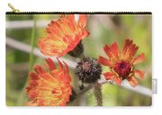 Orange Small Flowers With Buds Carry-all Pouch