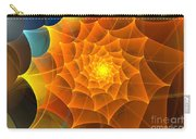 Orange Spiral Petals Carry-all Pouch