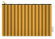 Orange Striped Pattern Design Carry-all Pouch