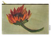 Orange Sunflower Carry-all Pouch