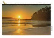 Orange Sunrise Seascape And Beach Carry-all Pouch
