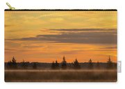 Orange Sunrise With Misty Tree Line Carry-all Pouch