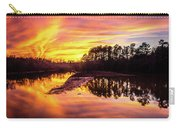 Orange Sunset Over Lake Carry-all Pouch