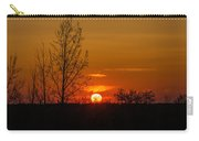 Orange Sunset Through The Trees Carry-all Pouch