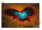 Orange Swirl With Blue Carry-all Pouch