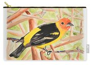 Orange Tanager Carry-all Pouch