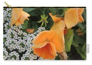 Orange Teardrop With White Lace Carry-all Pouch