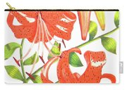 Orange Tiger Lilies Carry-all Pouch