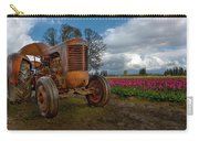 Orange Tractor At Tulip Field Carry-all Pouch