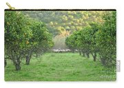 Orange Trees And Sheep Flock Carry-all Pouch