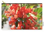 Orange Trumpet Flower Carry-all Pouch