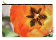 Orange Tulip Bloom Carry-all Pouch