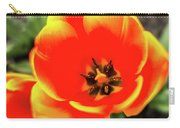 Orange Tulip Flowers In Spring Garden Carry-all Pouch