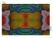 Orange Turquoise Floral Gem Carry-all Pouch