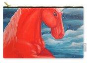 Orange Unicorn Carry-all Pouch