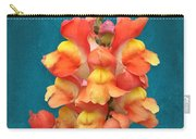Orange Yellow Snapdragon Flowers Carry-all Pouch