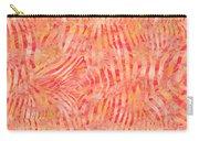 Orange Zebra Print Carry-all Pouch