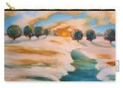 Oranges In The Snow-landscape Painting By V.kelly Carry-all Pouch by Valerie Anne Kelly