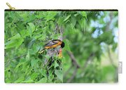 Orchard Oriole Feeding The Kids Carry-all Pouch