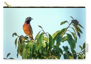 Orchard Oriole Songbird Perched On A Bush Carry-all Pouch
