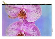 Orchid Delight - Two Blooms Against A Rainbow Background Carry-all Pouch